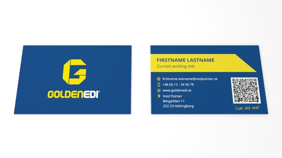 Golden EDI Visitkort