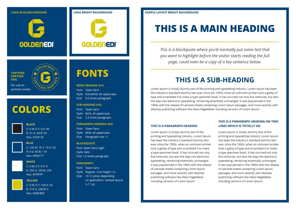 Golden EDI grafisk profil