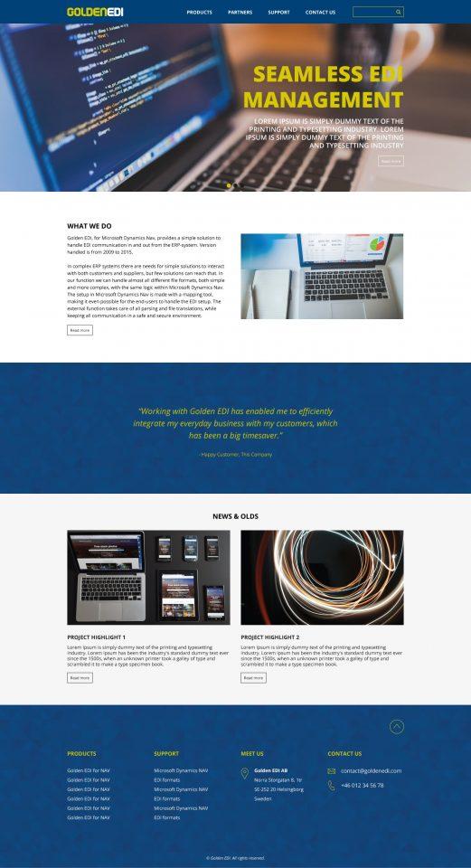 Golden EDI Webbdesign