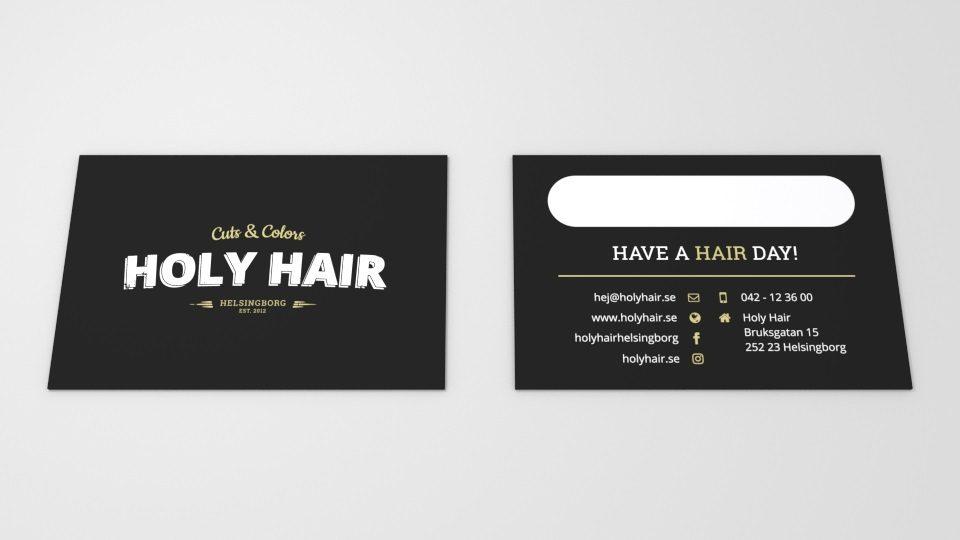 Holy Hair Visitkort